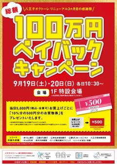 総額100万円ペイバックキャンペーン